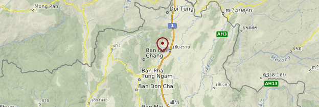 Carte Chiang Rai - Thaïlande