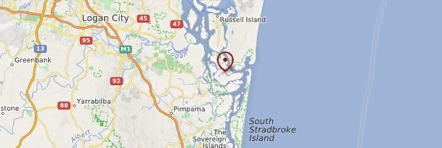 Carte Moreton Bay - Australie