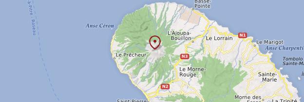 Carte Montagne Pelée - Martinique