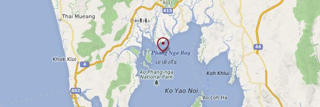 Carte Baie de Phang Nga - Thaïlande