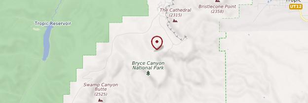 Carte Bryce Canyon National Park - Parcs nationaux de l'Ouest américain
