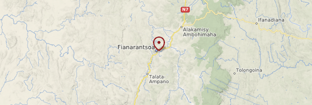 Carte Fianarantsoa - Madagascar