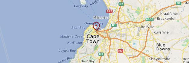 Carte Cape Town (Le Cap) - Afrique du Sud