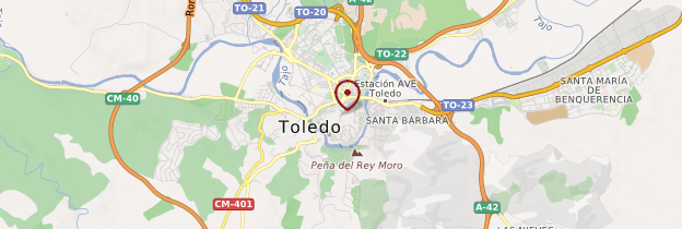 Carte Toledo (Tolède) - Espagne