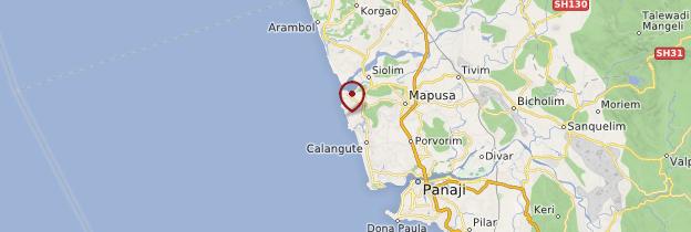 Carte Anjuna Beach - Goa