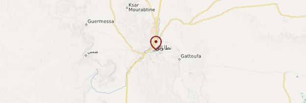 Carte Tataouine - Tunisie