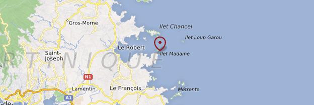 Carte Îlet Madame - Martinique