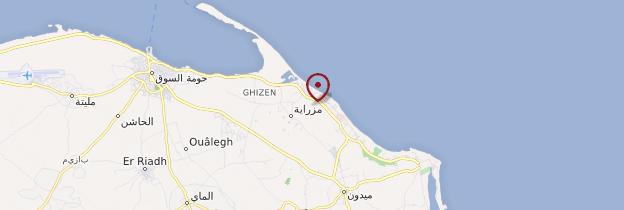 Carte Ile des Flamants - Tunisie