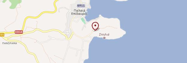 Carte Site archéologique d'Épidaure - Grèce