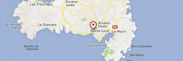 Carte Sainte-Luce - Martinique