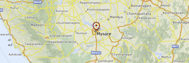 Carte Mysore - Inde