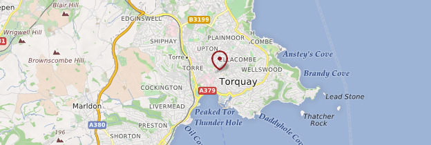 Carte Torquay - Angleterre