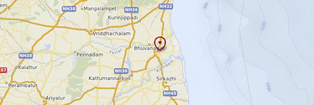 Carte Chidambaram - Inde