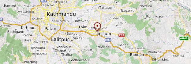 Carte Bhaktapur - Népal
