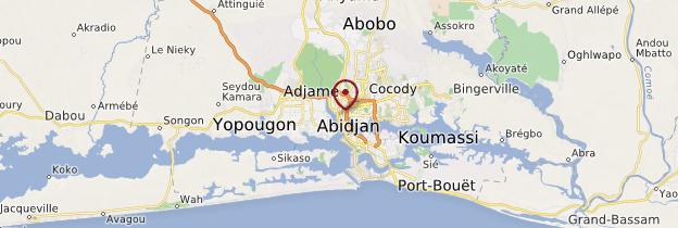 Carte Abidjan - Côte d'Ivoire