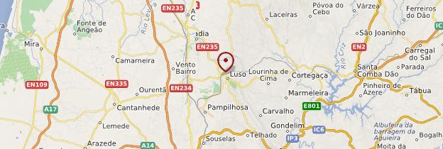 Carte Buçaco (forêt de) - Portugal