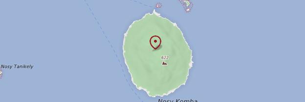 Carte Île de Nosy Komba - Madagascar