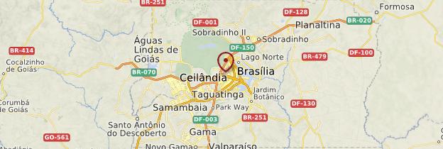 Carte Brasília - Brésil