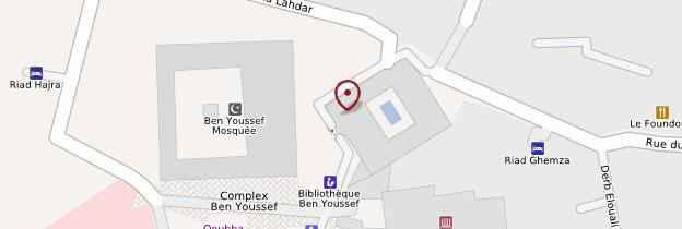 Carte Médersa Ben-Youssef - Marrakech