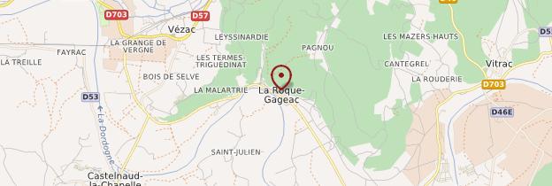 Carte La Roque-Gageac - Périgord - Dordogne