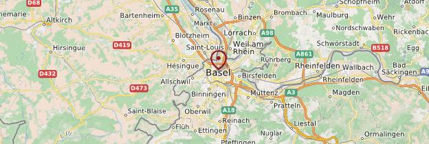 Carte Bâle (Basel) - Suisse