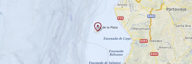 Carte Isla de la Plata - Équateur