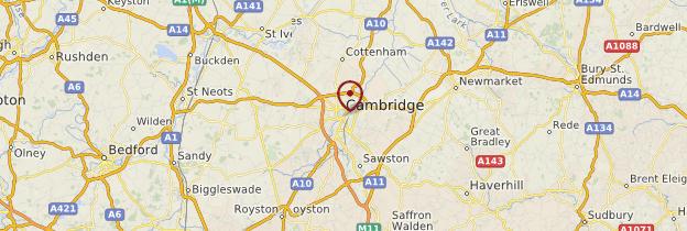 Carte Cambridge - Angleterre