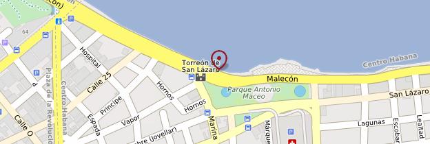 Carte Malecón - Cuba