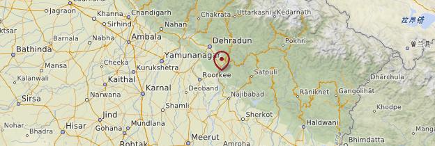 Carte Haridwar - Inde