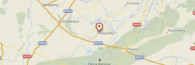 Carte Khajuraho - Inde
