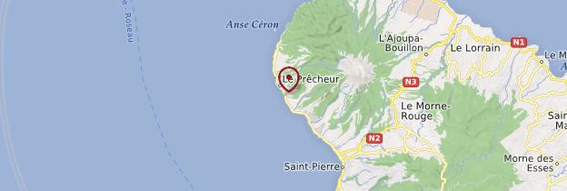 Carte Le Prêcheur - Martinique