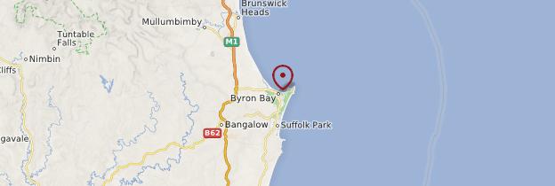 Carte Byron Bay - Australie
