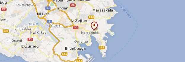 Carte Marsaxlokk - Malte