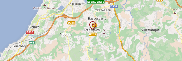 Carte Arcangues - Pays basque et Béarn