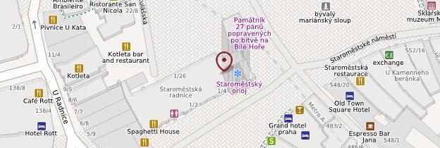 Carte Horloge astronomique - Prague