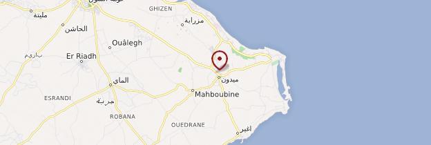Carte Midoun - Tunisie