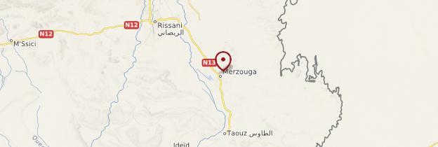 Carte Merzouga - Maroc