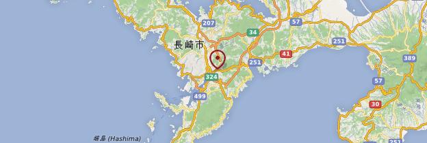 Carte Nagasaki - Japon