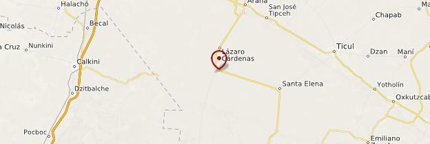 Carte Uxmal - Mexique