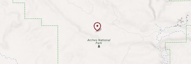 Carte Arches National Park - Parcs nationaux de l'Ouest américain