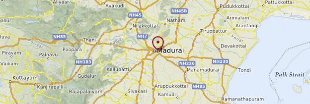 Carte Madurai - Inde