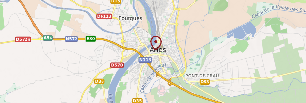Carte Arles - Provence