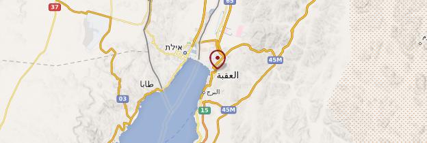 Carte Aqaba - Jordanie