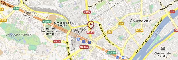 Carte La Défense - Île-de-France