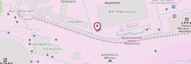 Carte Parthénon - Athènes