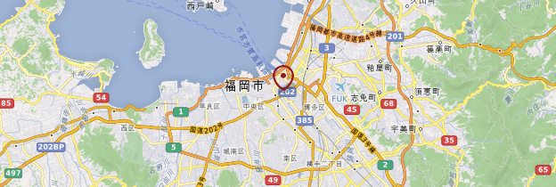 Carte Fukuoka - Japon
