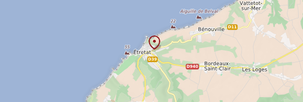 Carte Étretat - Normandie