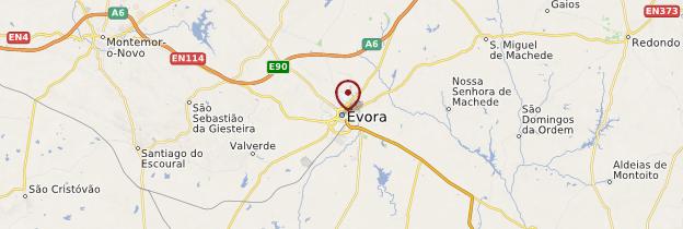 Carte Évora - Portugal