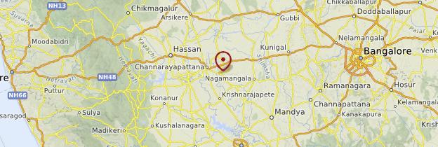 Carte Sravanabelagola - Inde
