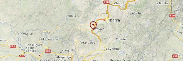 Carte Otavalo - Équateur